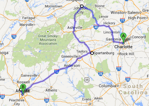 Distance Atlanta To Charlotte Whitepearstore